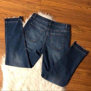 BODEN Cambridge Ankle Skimmer Jeans Frayed Size 6